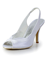 Bridal Satin Stiletto Slingback Sandals Wedding/Special Occasion Shoes(More Colors)