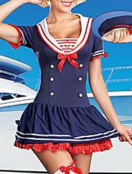 Сексуальная девушка Морской Флот голубом платье Равномерное