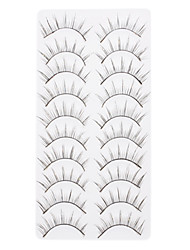 10pcs Brillant faux cils