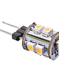 0.5W G4 Ampoules Maïs LED T 10 SMD 3528 50 lm Blanc Chaud AC 12 V