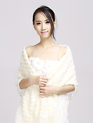 Soft Imitation Wool Scarves with Lace Wraps