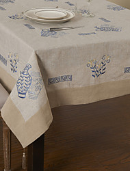 Beige Rectangular Table Cloths