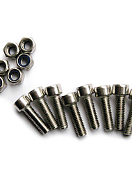 LX-63464 5*16mm Stainless Steel Bolts and Blind Nuts Designed for Bike Racks(8 Bolts + 6 Nuts)