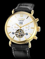 Мужской Наручные часы С автоподзаводом Календарь Кожа Группа Черный бренд-