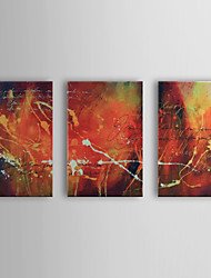 Hand Painted Oil Painting Abstract With Stretched Frame Set of 3 1308-AB0530