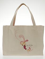 saco de lona design floral presente personalizado de presentes da dama de honra