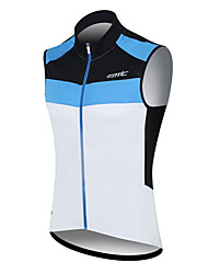 SANTIC Cycling Jersey Men's Sleeveless Bike Breathable Quick Dry Windproof Wearable Sweat-wicking Vest/Gilet Jersey Tops 100% Polyester