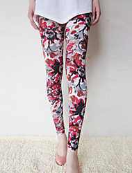 Women Print Legging , Nylon/Others