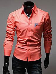 Оранжевый Повседневная RR ПОКУПАТЬ Человек Кнопка украшать Карманный футболка с длинным рукавом