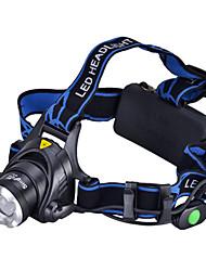 Lampes Torches LED / Lampes frontales LED 3 Mode 1000 Lumens Cree XM-L T6 18650Camping/Randonnée/Spéléologie / Usage quotidien / Cyclisme