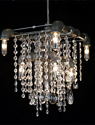 North American-Style característica Crystal Light 9 Chandelier En Pipe Design