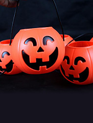 12cm PVC Halloween Pumpkin Light with Electric Candle