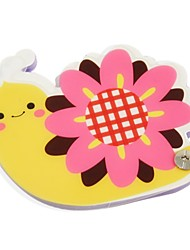 Flower Snail Pattern Cover Nail Fixed Notepad