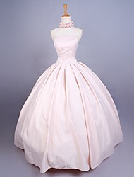 Deluxe Sleeveless Floor-length Pink Satin Sweet Princess Lolita Gown