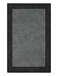 Modern Wool Tufted Area Rug With Solid Pattern 5'*8'