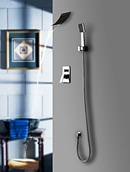 Sprinkle® Shower Faucets  ,  Contemporary  with  Chrome Single Handle Five Holes  ,  Feature  for Waterfall / Widespread / Wall Mount
