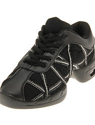 Fashion Children & Women's Leather And Net Upper Dance Shoes