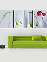 Reproduction transférée sur toile Art Still Life Vase Set de 3