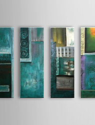 Hand Painted Oil Painting Abstract with Stretched Frame Set of 4 1309C-AB0805