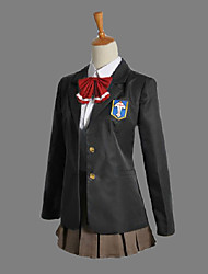 Inspired by Free! Gou Matsuoka Anime Cosplay Costumes Cosplay Suits / School Uniforms Patchwork Black Long SleeveCoat / Shirt / Skirt /