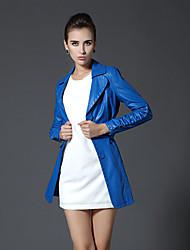 Women's Coats & Jackets , PU Casual AUTUMN MOON