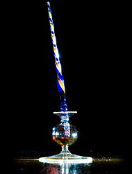 Color Stripe Glass Dip Pen