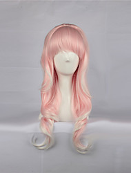 Light Pink 63cm Long Curly Sweet Lolita Wig