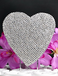 Cake Toppers Shining  Heart-shaped Rhinestone  Cake Topper