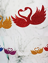 Wedding Décor Hanging Shining Paper Swan Banner(set of 9)--(More Colors)