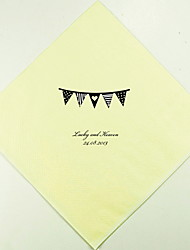 Personalized Wedding Napkins Pennant Flag(More Colors)-Set of 100