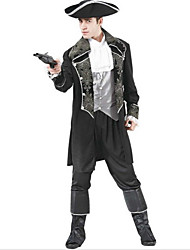 Brilliant Caribbean Pirate Black Fancy Apparel Men's Halloween Costumefor Carnival