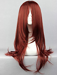 Cosplay Wigs Naruto Karin Red Medium Anime Cosplay Wigs 65 CM Heat Resistant Fiber Female