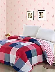 DWJF Squares Cotton Twill Print Bedding (4 Pieces Set)220*240cm