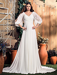 Lanting Bride® A-line Apple / Hourglass / Inverted Triangle / Pear / Rectangle / Plus Sizes / Petite / Misses Wedding Dress