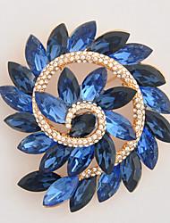 único cristal azul hidromassagem broche