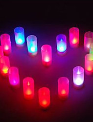 Wedding Décor Multicolor Changing Lights Sound Control Candles Lights(1pcs