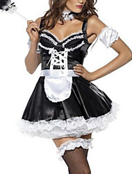 Tamptatious Black And White Lace Maid Dress
