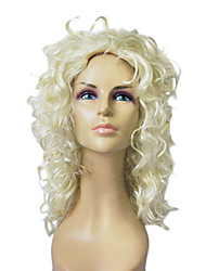 Capless Top Grade Synthetic Blonde Curly Long Wig
