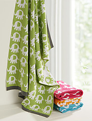 100% Cotton Onno Animal Green Baby Blanket