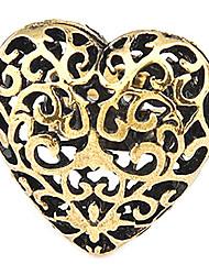 Hollow Peach Heart Open Ring