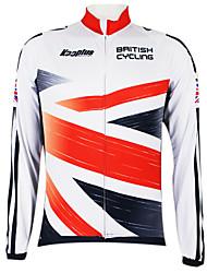 Kooplus2013 Championship UK Jersey 100% Polyester Wicking Fibers Cycling Shirt with Reflective Tape