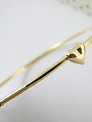 Сердце золота гальваническим круглый браслет