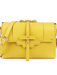 XFL Women's Yellow Cow Leather Sweet Elegance Delicate Crossbody Shoulder Bags (Cow Leather /L;27.5,W;8,H;19CM)