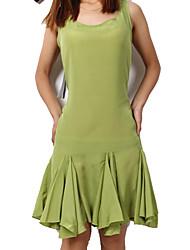 Pure Color Big Lap manches vert robe de femmes du fleuve