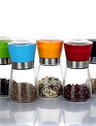 Lässige Glass Pfeffermühlen in 5 Farben