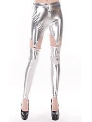 Prata metálico Olha Vertigo Garter Legging