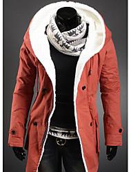 Hoodie de velours épais des hommes à l'intérieur manteau occasionnel