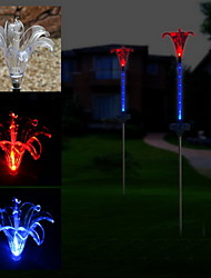 2 LED Solar Powered Star Flexible Garden Stake Light-Color Changing