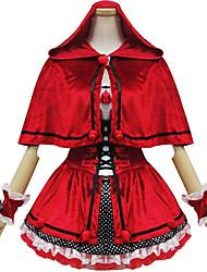 Costumes de Cosplay Costume de Soirée Conte de Fée Fête / Célébration Déguisement d'Halloween Rouge Couleur Pleine MosaïqueRobe Manche