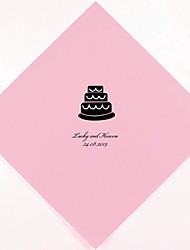 Personalized Wedding Napkins Cake(More Colors)-Set of 100